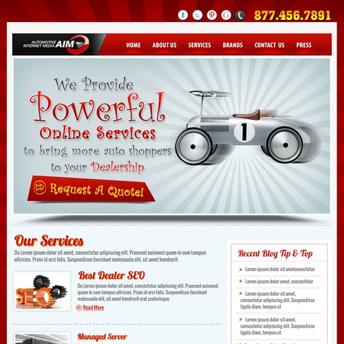 Help Automotive Internet Media with a new website design