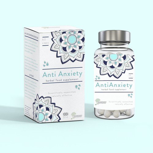 Packaging and label for anti-anxiety pills