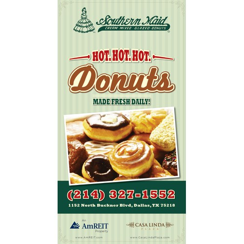 Create an ad for Southern Maid Donuts