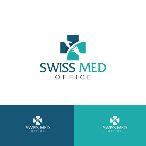 clean, bold concept for swiss med