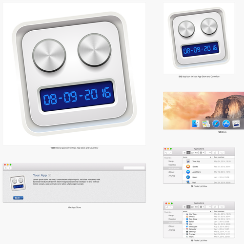 MacOS main icon design