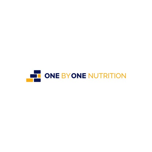Negative space, simple, flat, for a nutrition coaching company