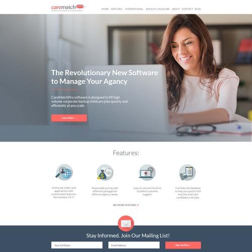 Clean Web Design for Nanny agencies