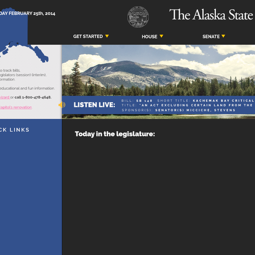 Alaska State Legislature site redesign