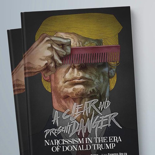 Book cover. Narcissism in the era of Donald Trump.
