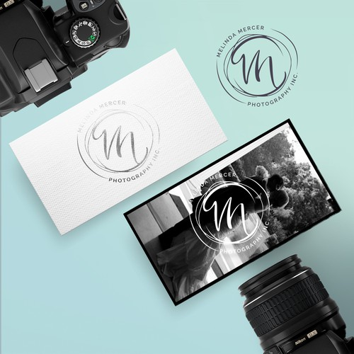 Wedding photographer stamp logo concept