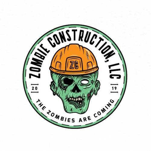 Logo design for Zombie Construction, LLC
