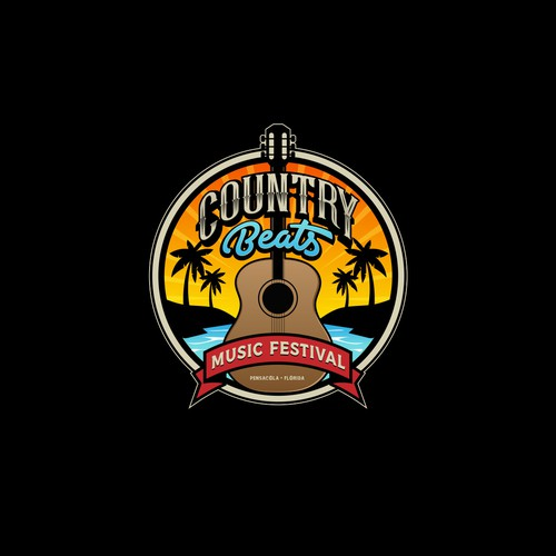 country beat logo for music festival