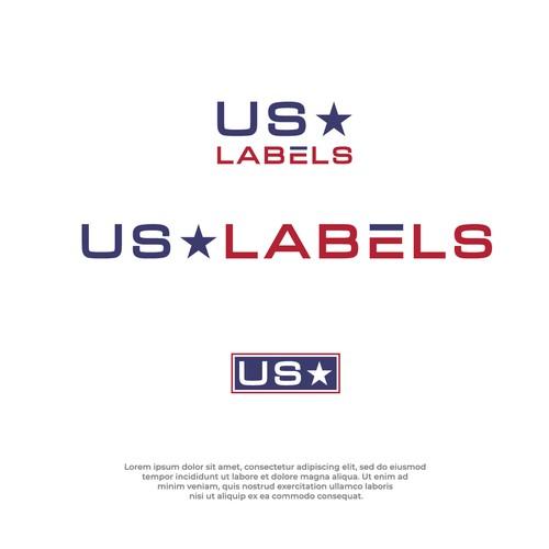 US Label Concept Logo Design