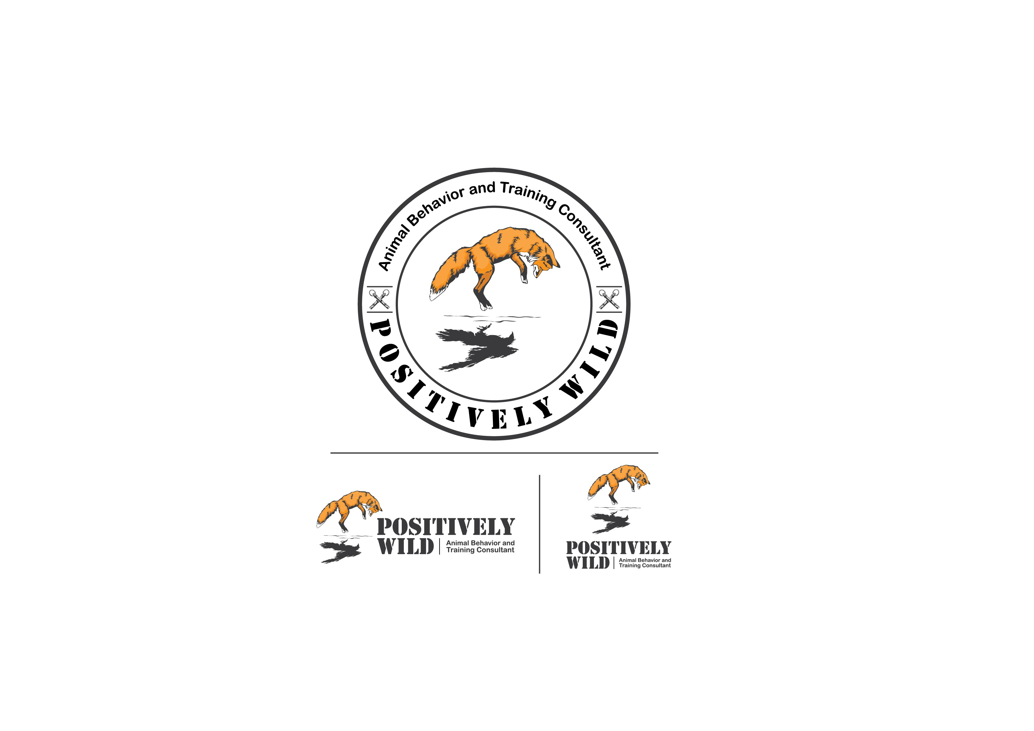 Create a wild and modern design for Positively Wild animal training consultant