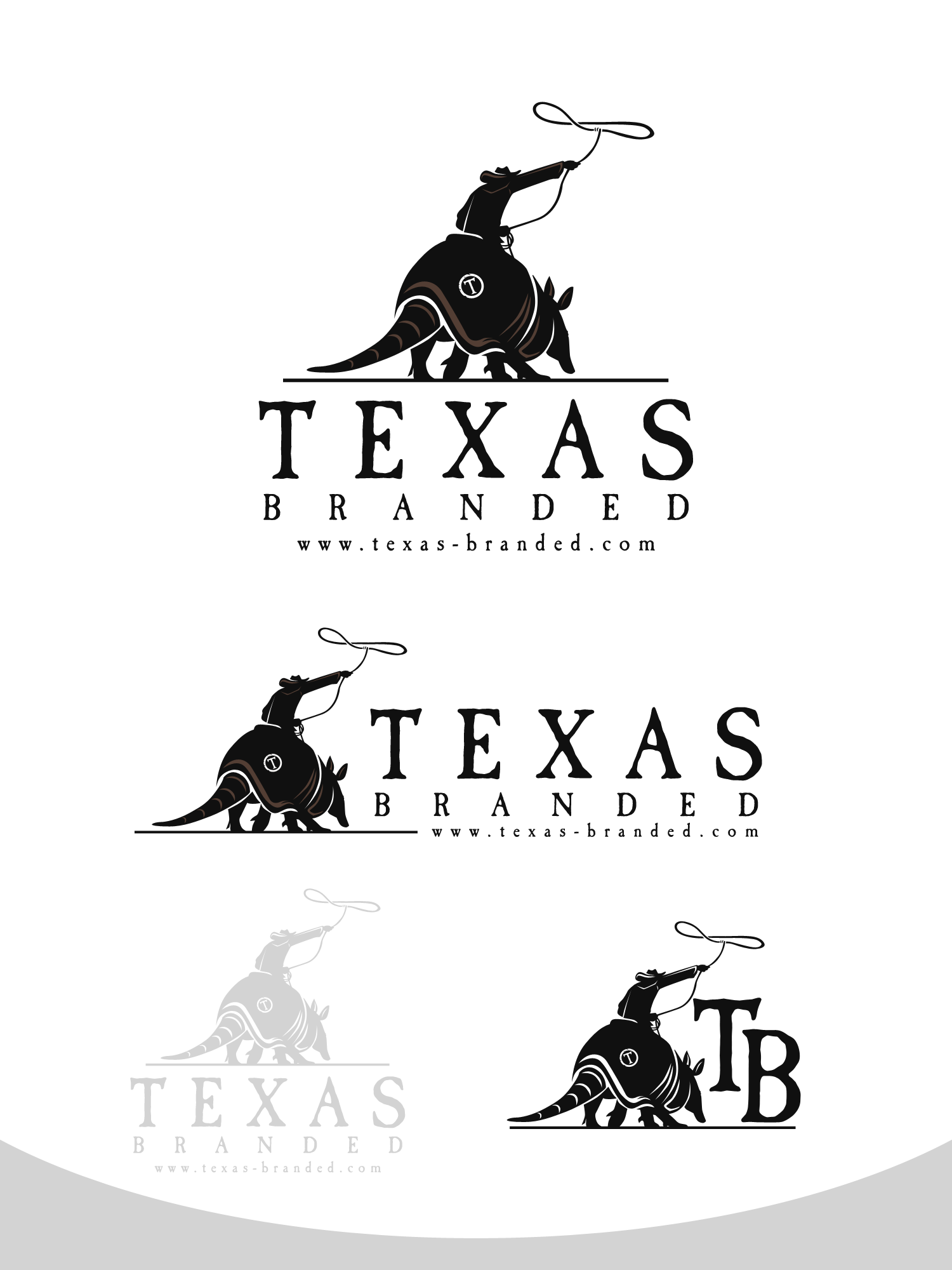 Create an iconic logo for a Texas themed retail company.
