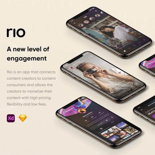 Rio iOS App Design
