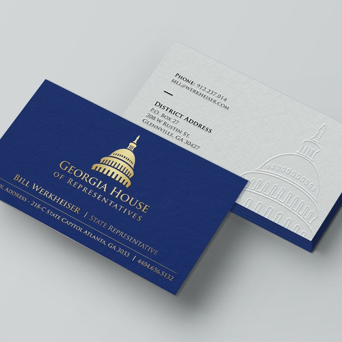 Business card design with blind embossed