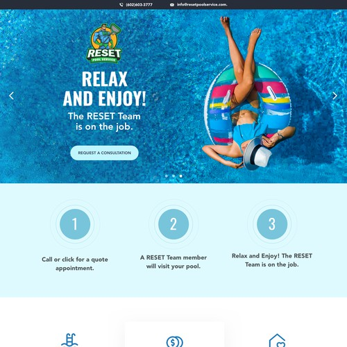 Webdesign for Pool Service company
