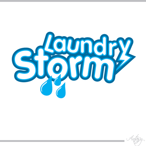"Logo for laundry pickup/delivery service -  ""Laundry Storm"""