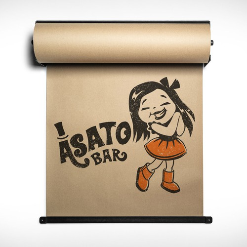 Retro style mascot girl