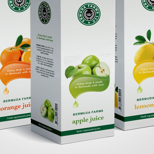 Create a New Label / Brand for BERMUDA FARMS : Fresh Squeezed Juices!