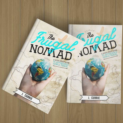 Travel book cover design .