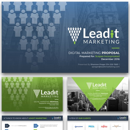 B2B digital marketing agency needs a cool and fresh new ppt deck