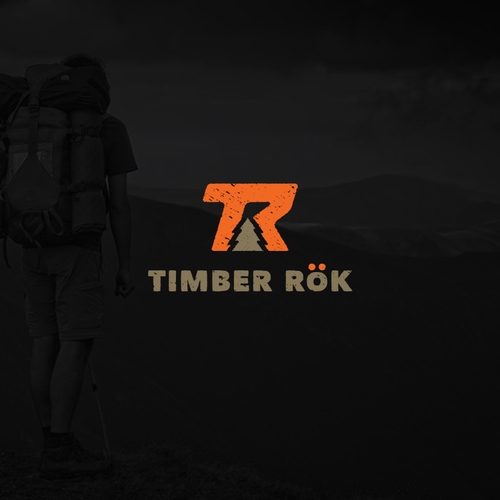 Design an iconic logo for Timber Rök. An outdoor product company