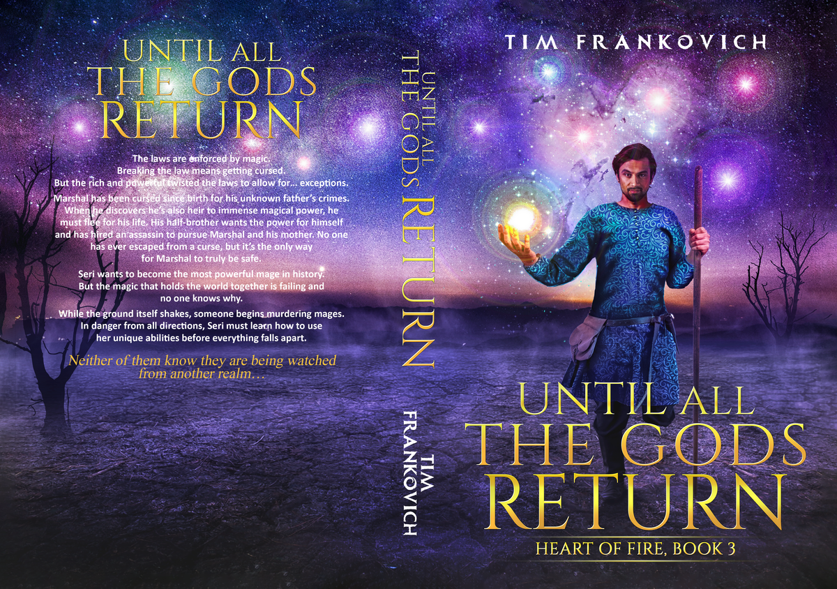 Cover for third book in a series