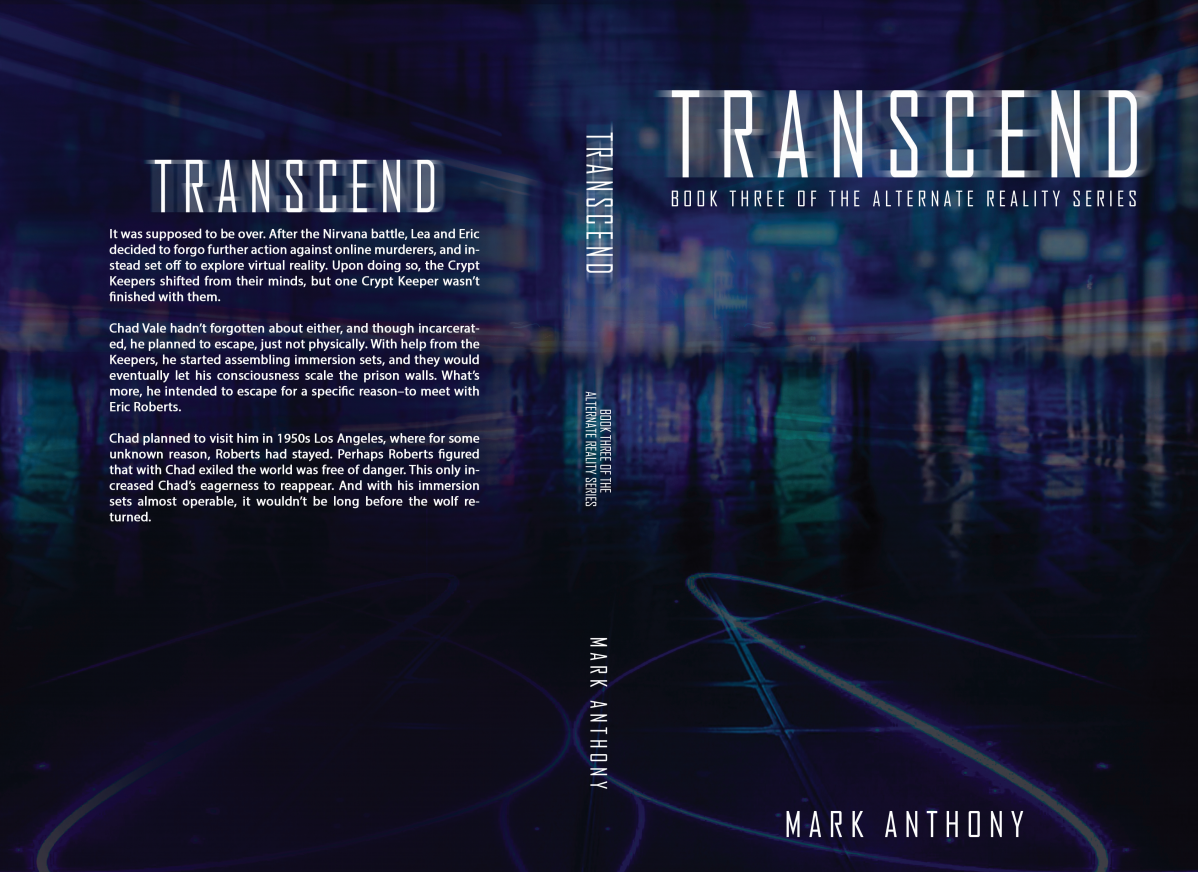 Book Cover for Transcend - Book Three of the Alternate Reality Series