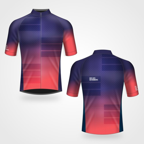 Cycling Jersey design 'Our lives - our moments'