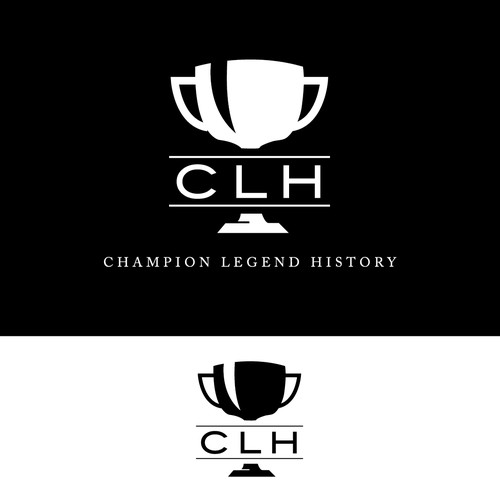 Create a fashion logo for the clothing brand; CLH  (Champion, Legend, History)