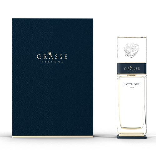 Parfume bottle and box for luxury brand