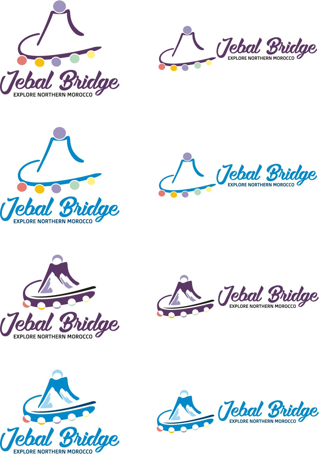 Create a logo for Jebal Bridge that will bring tourists to Northern Morocco