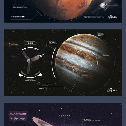 Space themed designs for Mouse pad print design