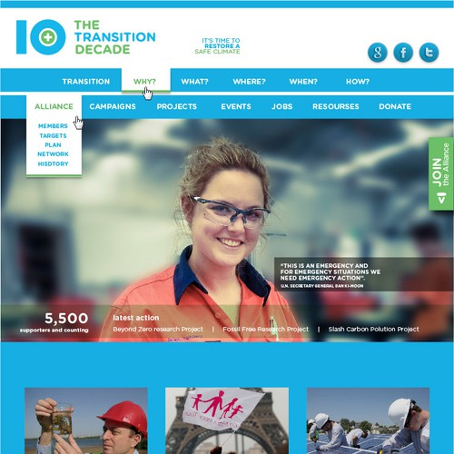 The Transition Decade - Landing Page