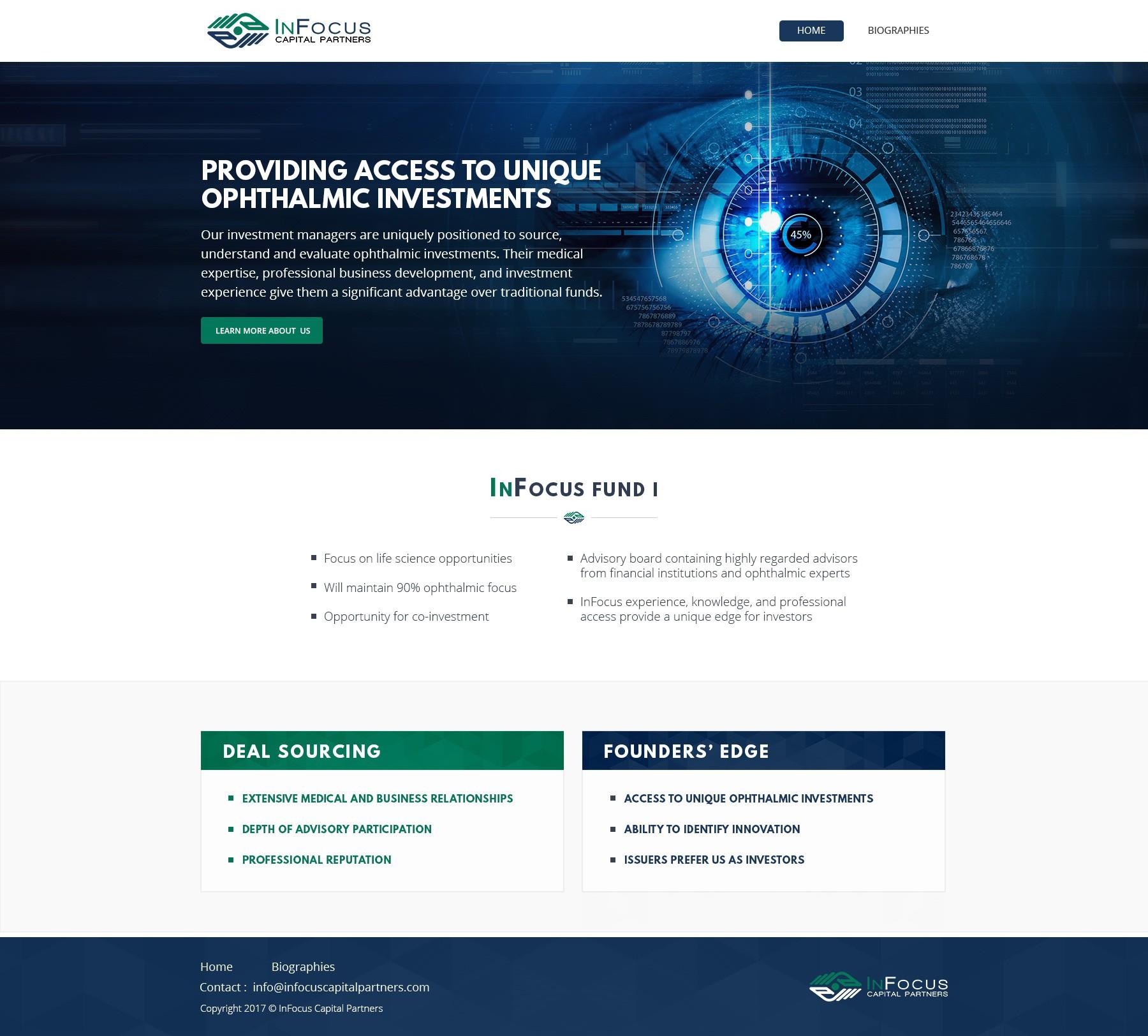 Start-up Venture Capital Fund needs 1st website