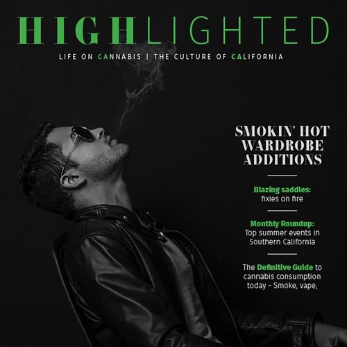 Cover design for lifestyle magazine