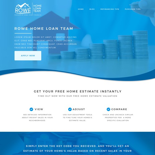 Clean web design for a tech savy mortgage company.