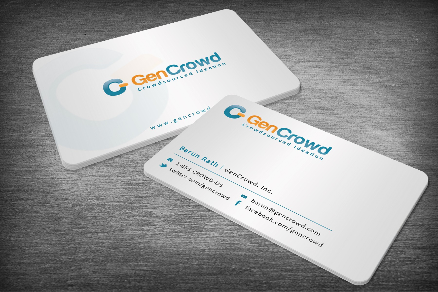 Business Card Design for GenCrowd - Guaranteed Contest