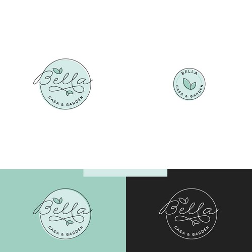 Logo for home and garden retail shop.