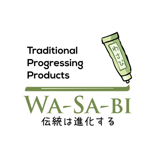 design for Wasabi Japanese traditional things.
