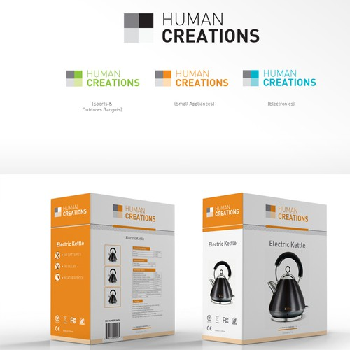 Set the packaging design theme for a new brand -- Human Creations