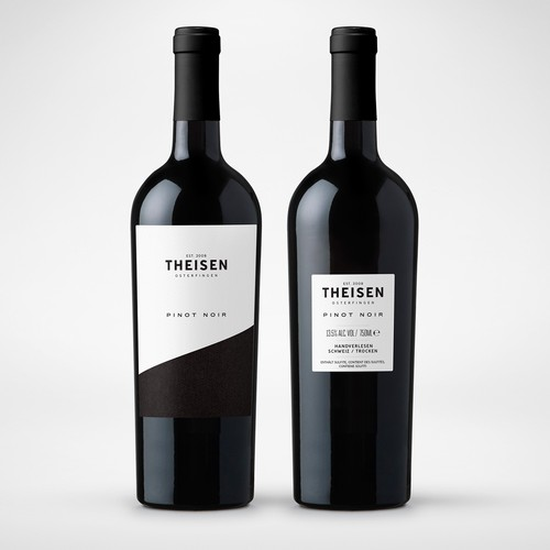 Theisen Pinot Noir Wine Label