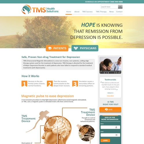 TMS Health Solutions Web Pages
