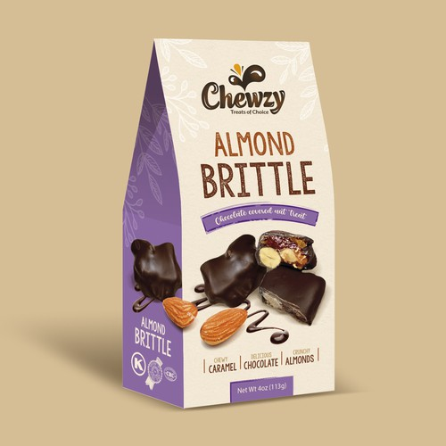 Chewzy almond brittle pack