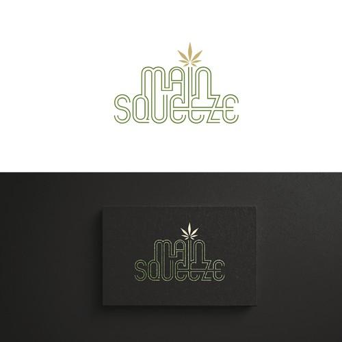 Minimalistic logo for a cannabis brand