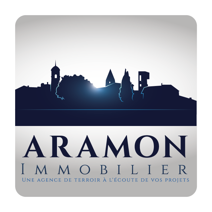 Créer un logo graphique pour notre agence immobilière Aramon Immobilier