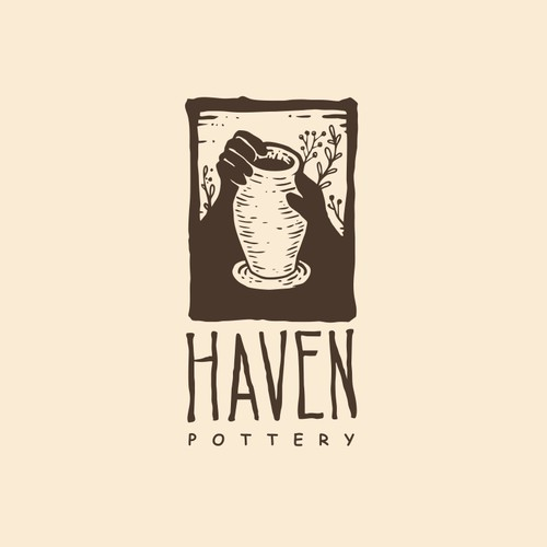 Logo for a pottery making company.