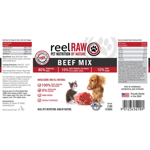 Product label design for ReelRaw