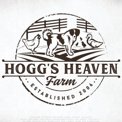 "Logo For ""Hogg's Heaven Farm"""