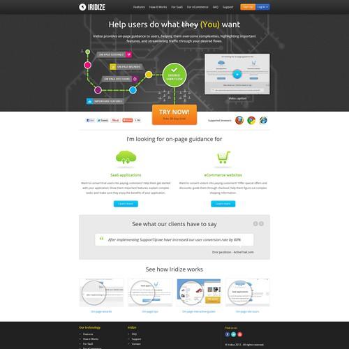 Iridize needs a new website design