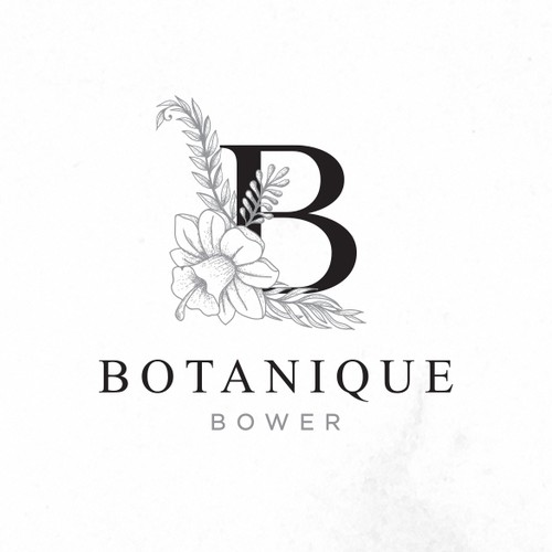 create a botanical inspired logo for a stylish plant/florist retail store
