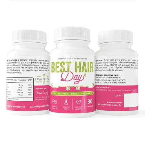 Label Design for Natural Hair Supplement